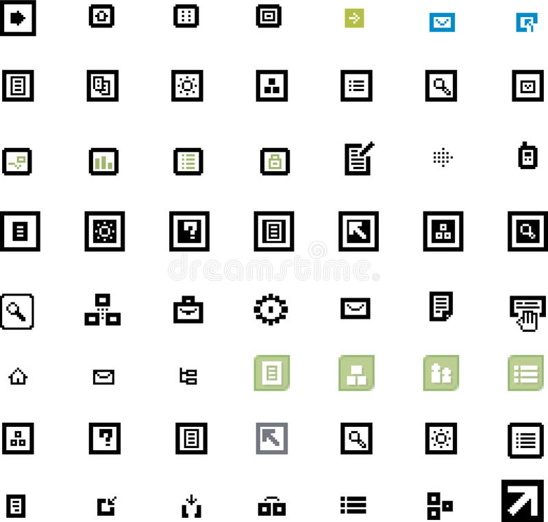 Download Vector beautiful icon set stock vector. Illustration of phone - 9918364