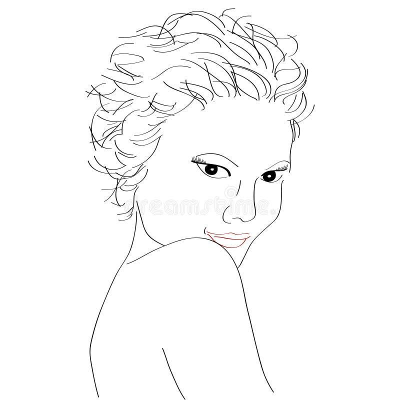 Download Vector beautiful woman stock vector. Image of hand, hair - 32469056