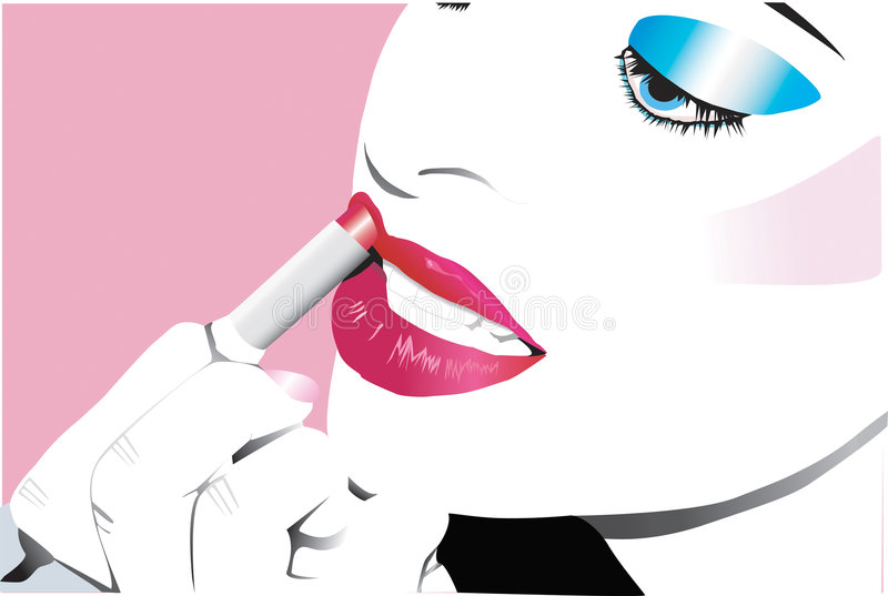 Vector beauty stock illustration