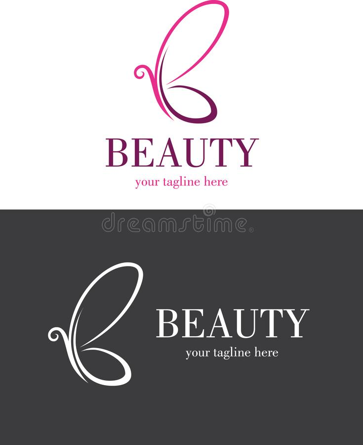 Vector Beauty Abstract Butterfly Logo royalty free illustration