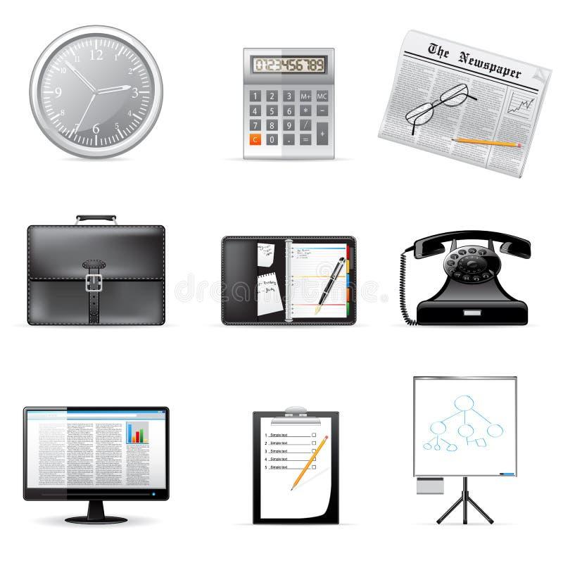 Vector bedrijfs en bureaupictogrammen