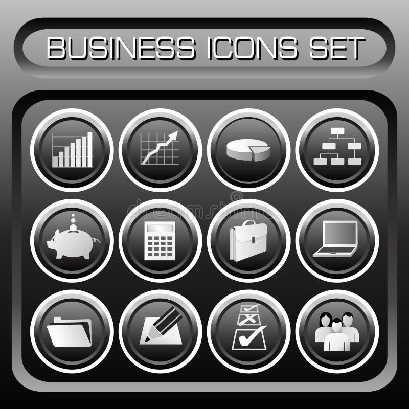 Vector Bedrijfs geplaatste pictogrammen royalty-vrije illustratie