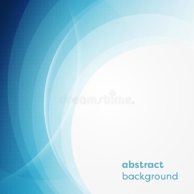 Vector bedrijfsachtergrond met abstracte cirkels en gloeiende lijnen vector illustratie