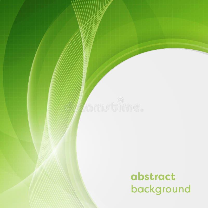 Vector bedrijfsachtergrond met abstracte cirkels en gloeiende lijnen royalty-vrije illustratie
