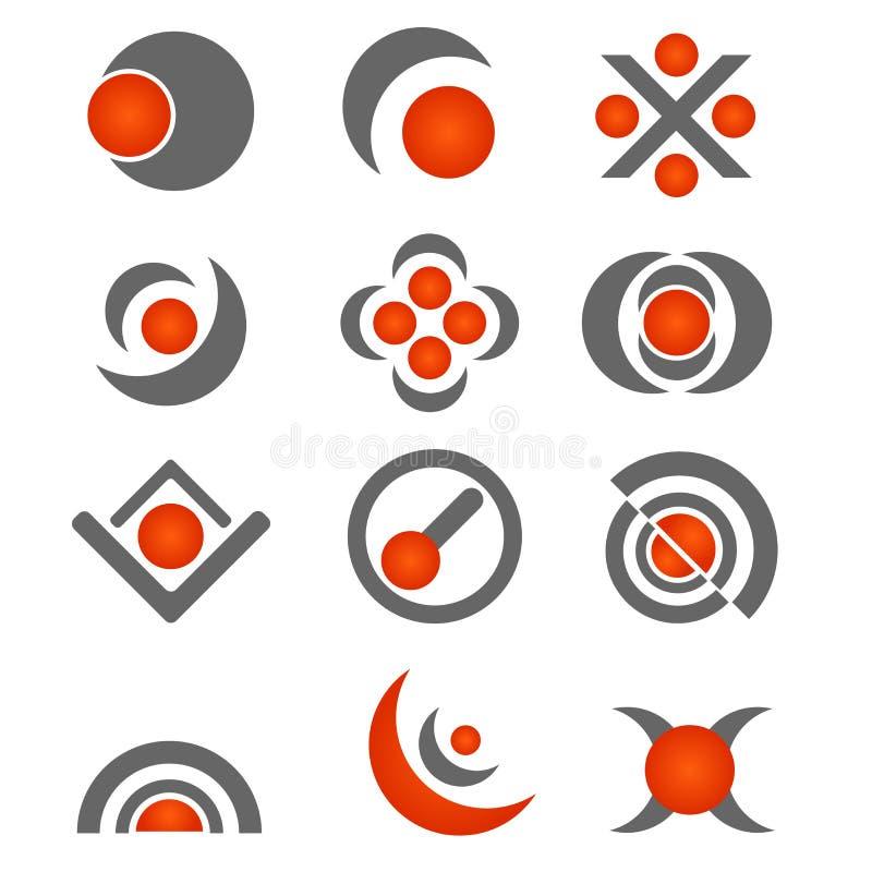 Vector bedrijfsembleemontwerp - grijs/sinaasappel stock illustratie
