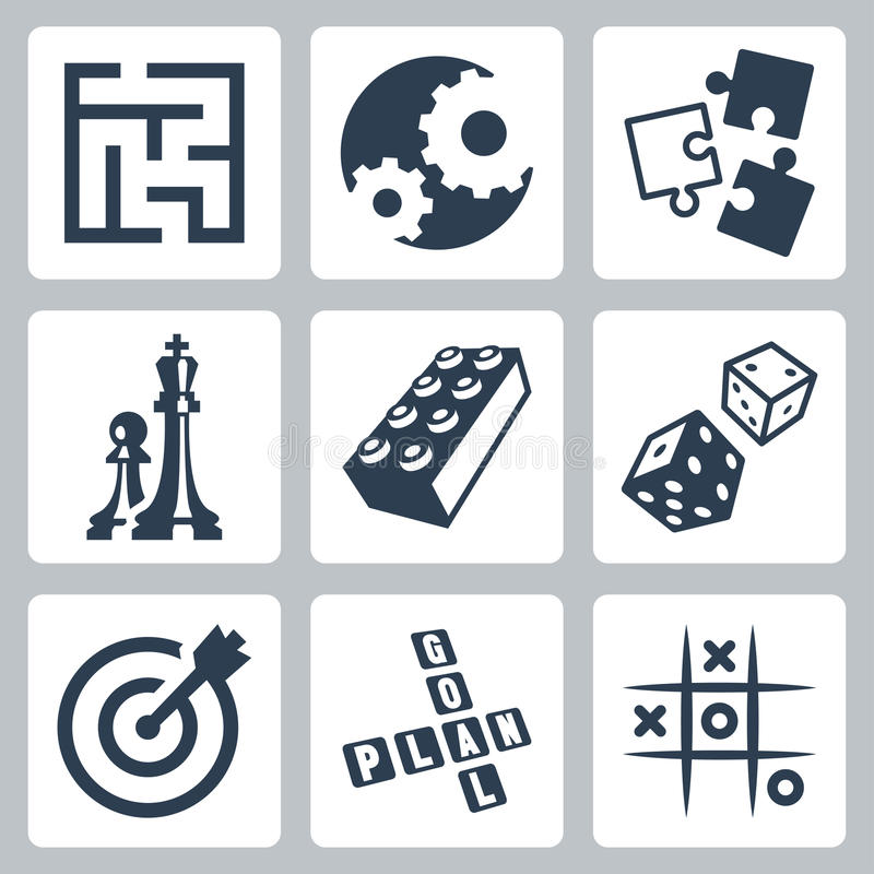 Vector bedrijfsstrategieën en ontwikkeling 'spelconcept' stock illustratie