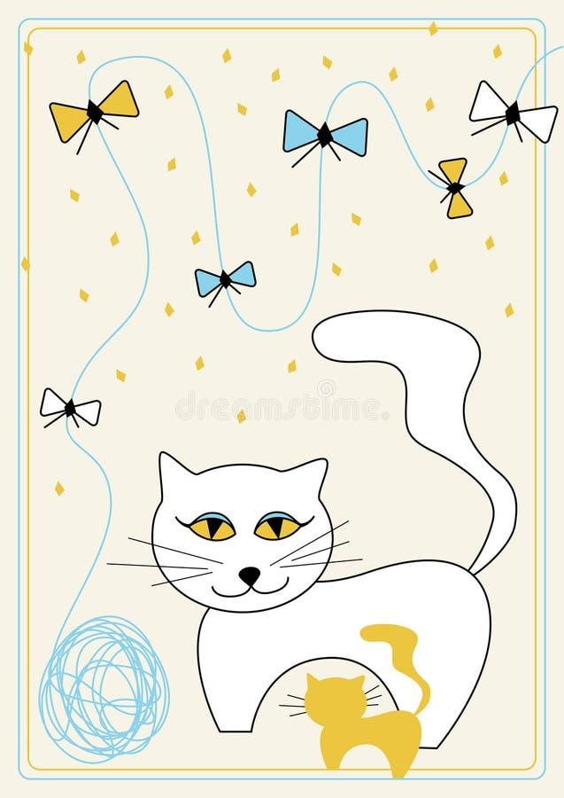 Vector beeld met kat vector illustratie