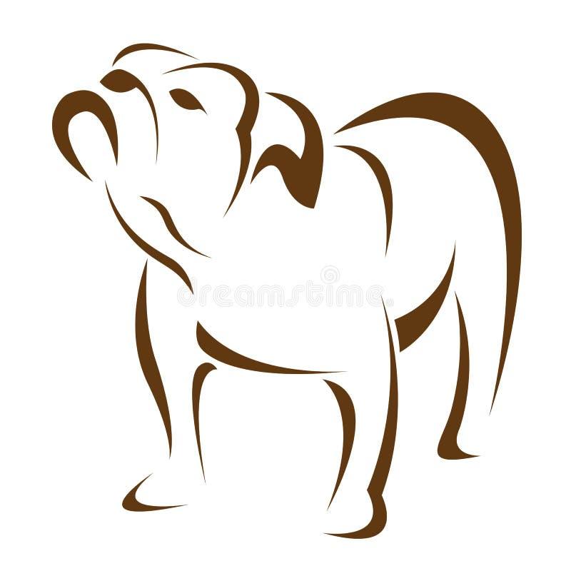 Vector beeld van een hond (buldog) vector illustratie