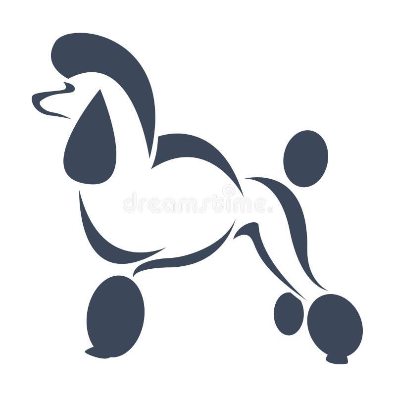 Vector beeld van een hond (poedel) royalty-vrije illustratie