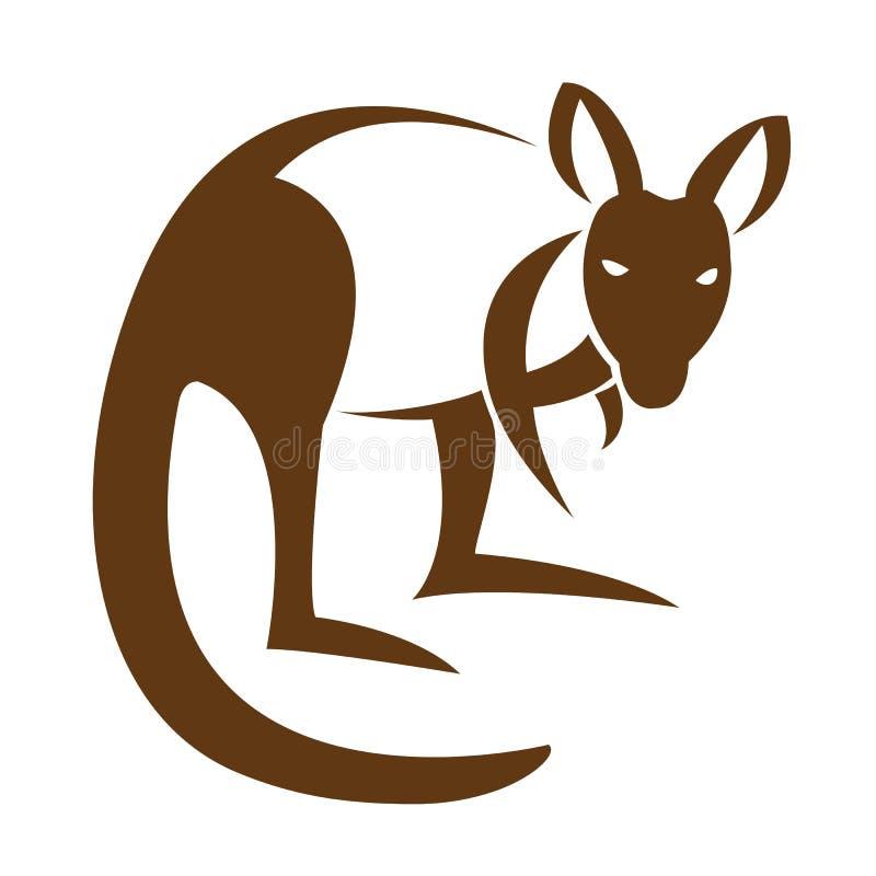 Vector beeld van een kangoeroe royalty-vrije illustratie