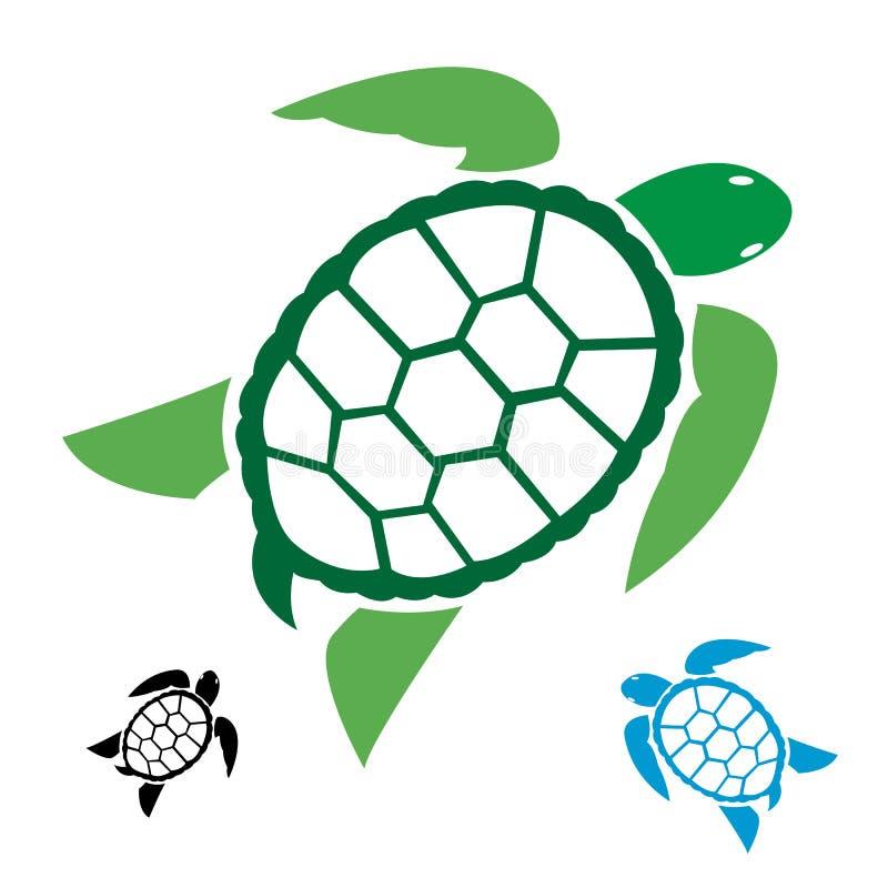 Vector beeld van een schildpad royalty-vrije illustratie