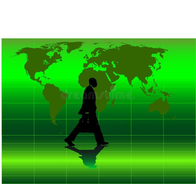 Vector beeld van het bedrijfsmens lopen royalty-vrije illustratie