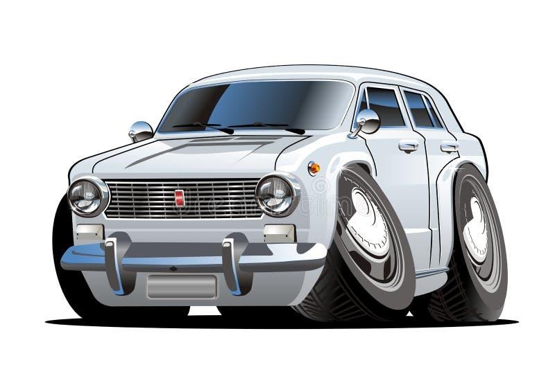 Vector beeldverhaal retro auto royalty-vrije illustratie