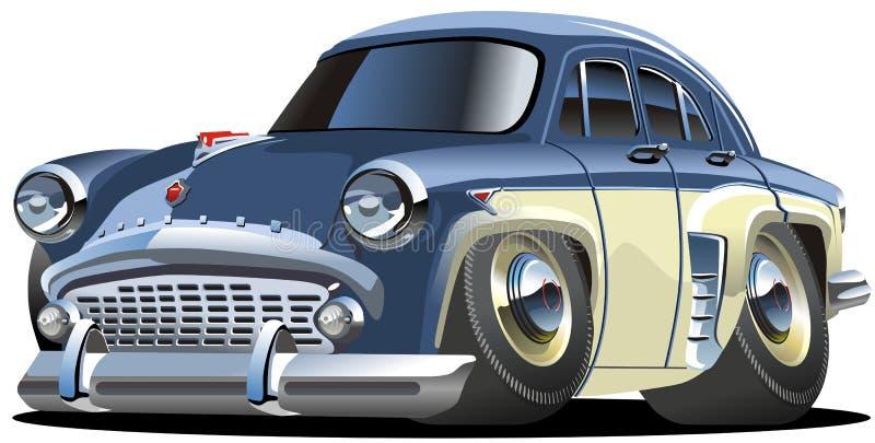 Vector beeldverhaal retro auto stock illustratie