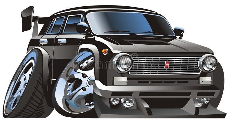 Vector beeldverhaalauto royalty-vrije illustratie