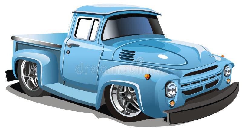 Vector beeldverhaalvrachtwagen royalty-vrije illustratie