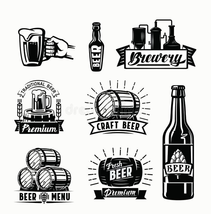 Vector beer badges vector illustration