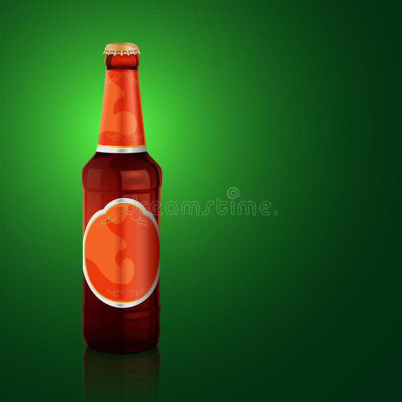 Download Vector beer bottle stock vector. Image of objects, gold - 28074832