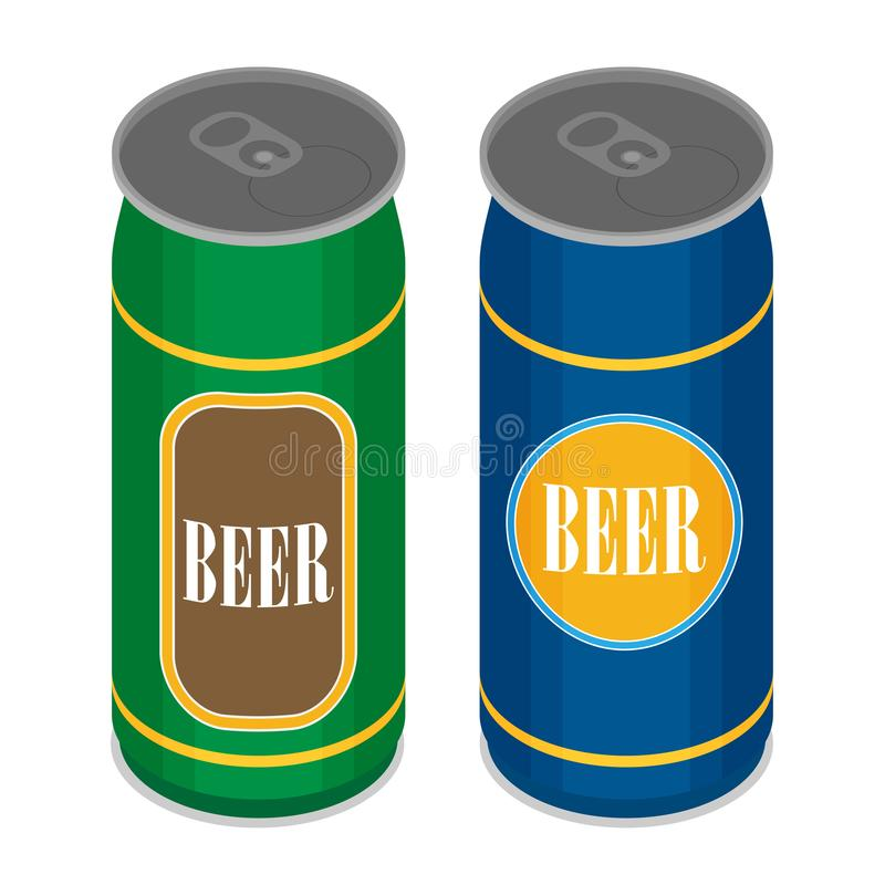 Vector beer can flat style icon royalty free illustration