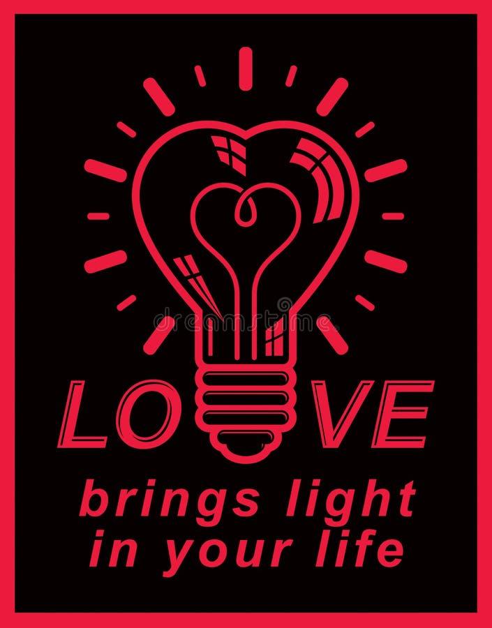 Emblem Beleuchtung | Vector Begriffsikone Der Retro Beleuchtung Liebesthemaemblem El