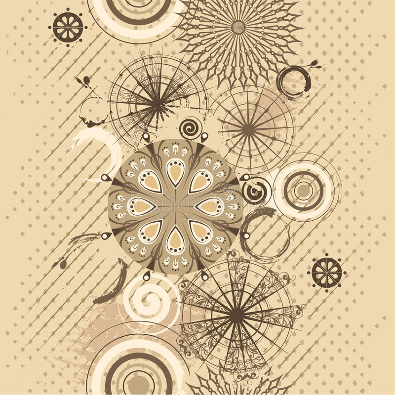 Download Vector Beige Circles Grunge Seamless Background Stock Vector - Illustration of overprint, decorative: 18314049