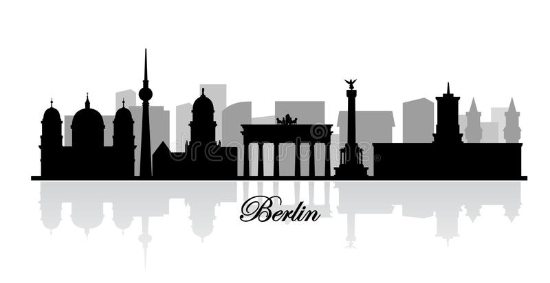 Vector berlin skyline silhouette. This is file of EPS10 format vector illustration