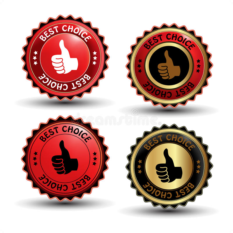 Download Vector Best Choice Guaranteed Labels Stock Vector - Image: 21033621