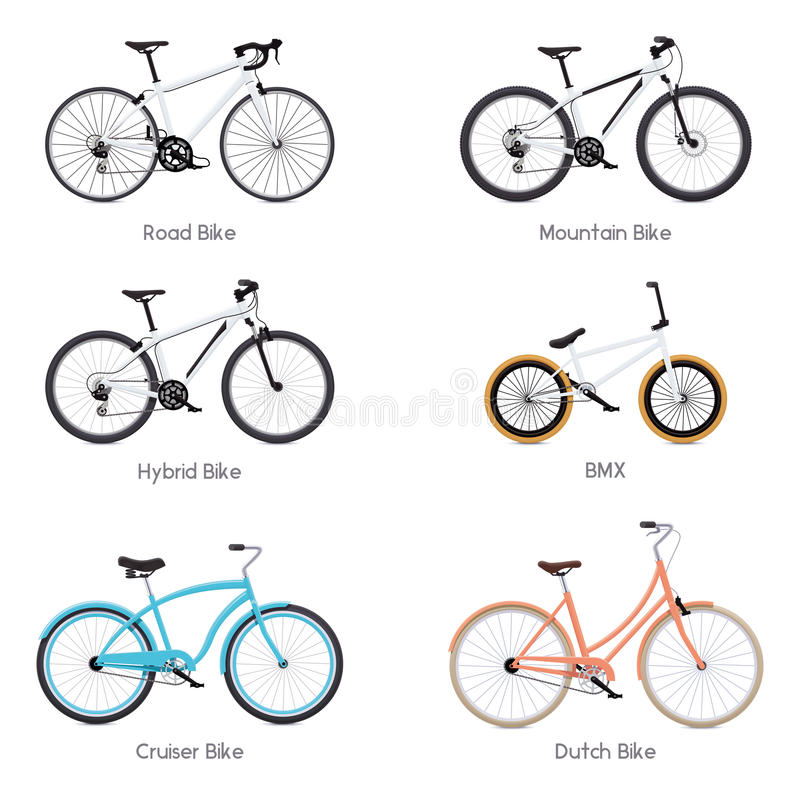 Vector bicycles set stock vector. Illustration of sport - 75416898