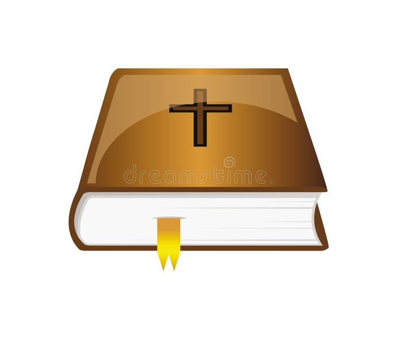 Vector bijbel met referentie royalty-vrije illustratie