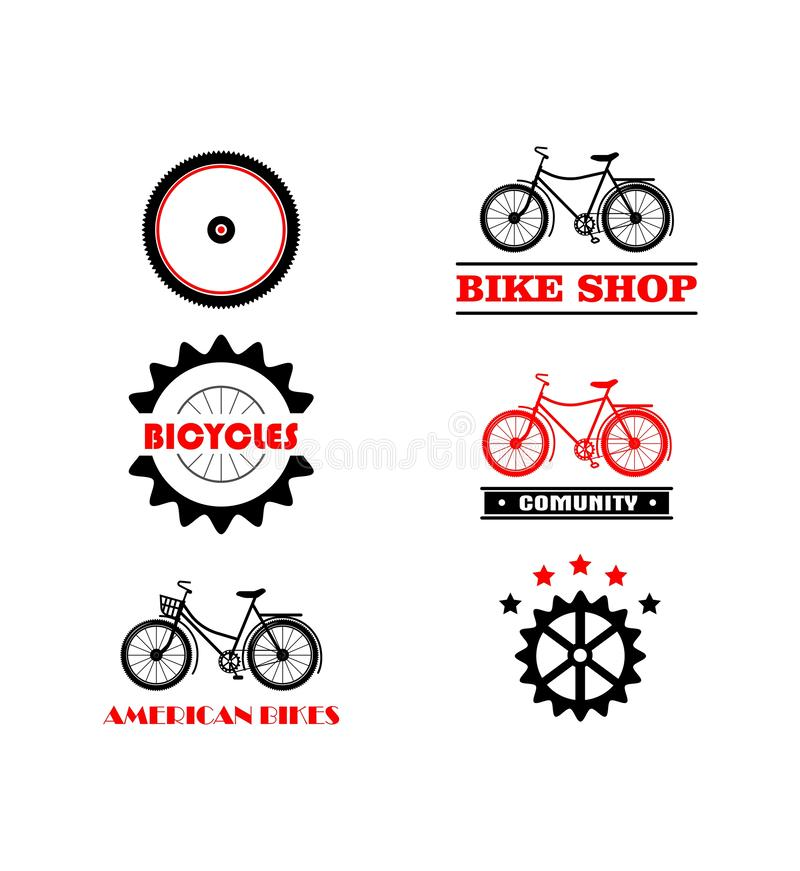 Vector of Bike Logo, Cycle Logo Collection stock illustration