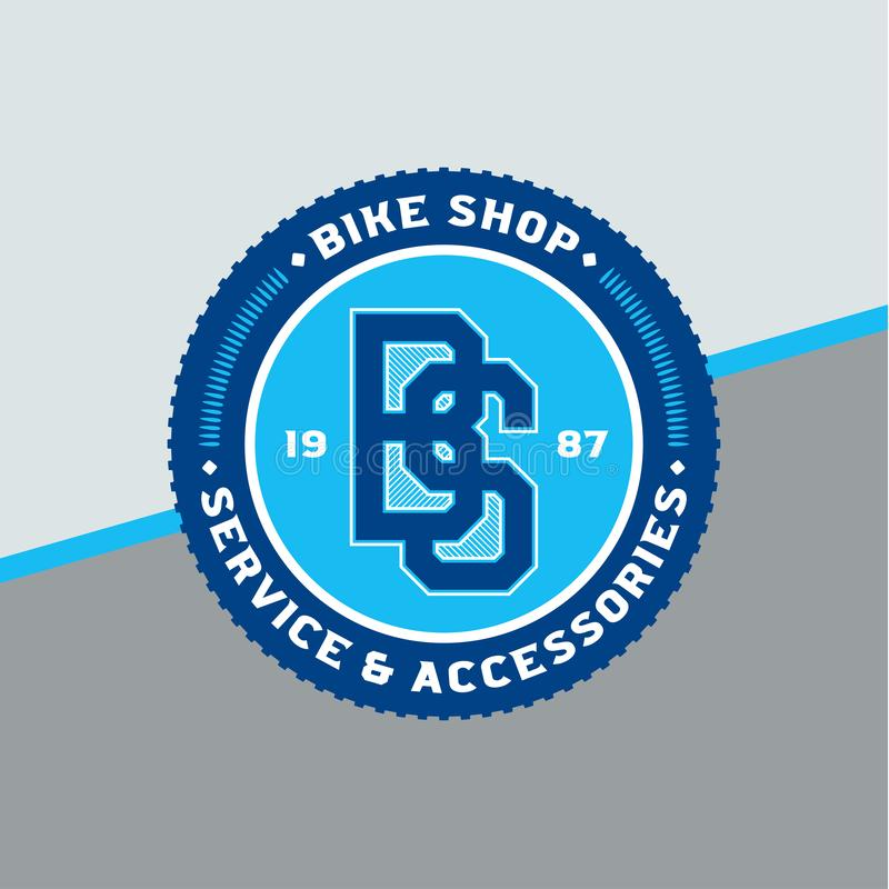 Vector bike shop logo vector illustration