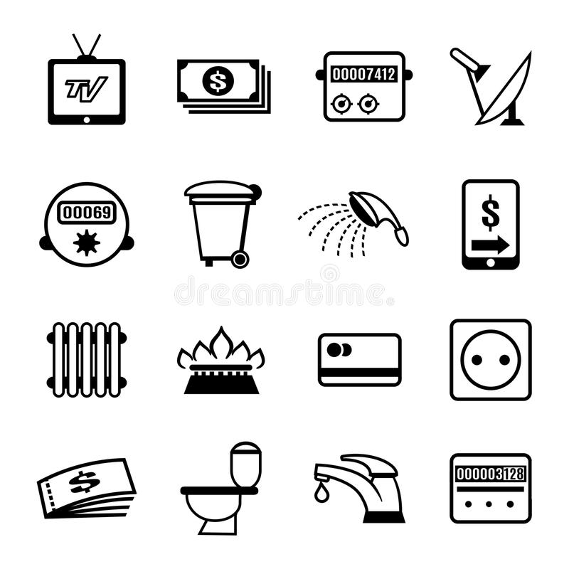 Vector bills icons royalty free illustration