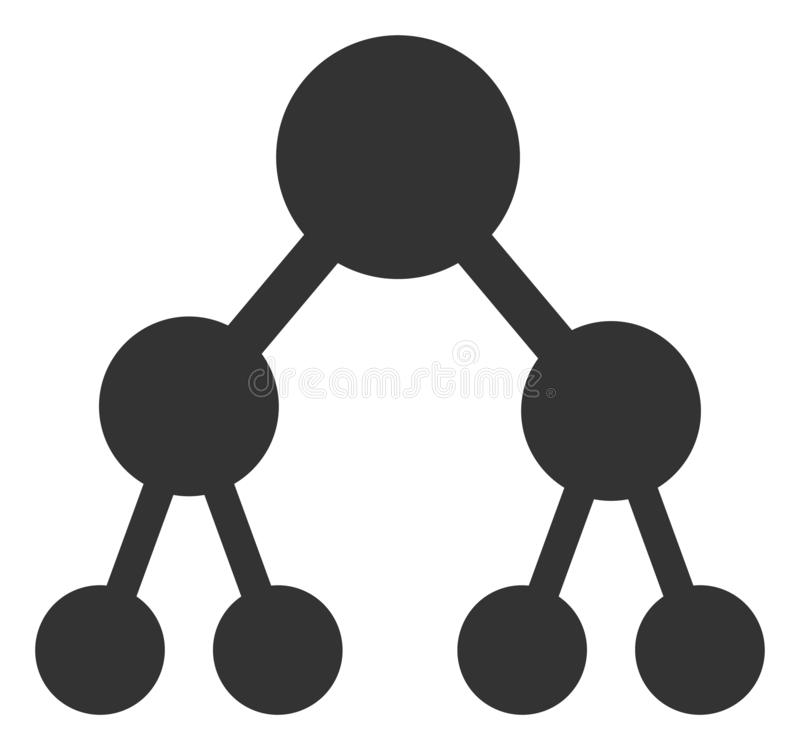 Vector Flat Binary Tree Icon. Vector binary tree flat icon. Vector pictograph style is a flat symbol binary tree icon on a white background vector illustration