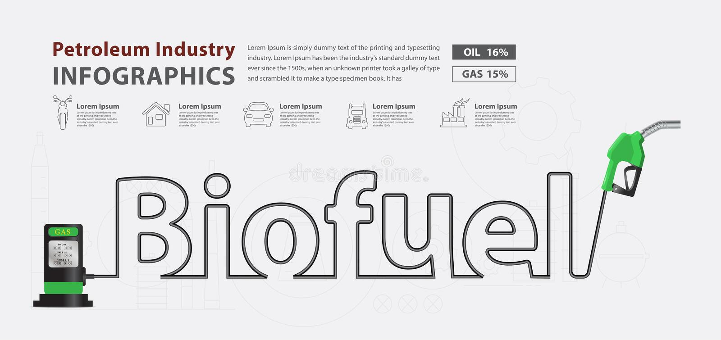 Vector biofuel typographic pump nozzle creative design. Biofuel typographic pump nozzle creative design, Fuel pump icon, Petrol station sign, vector illustration vector illustration