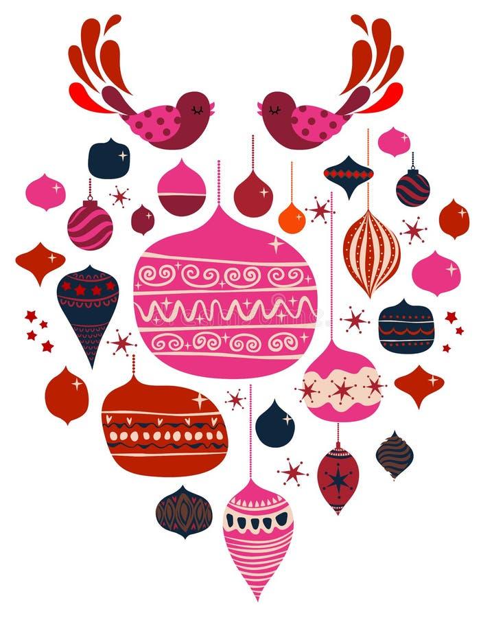 Download Vector bird and balls stock vector. Image of decor, cute - 8161909