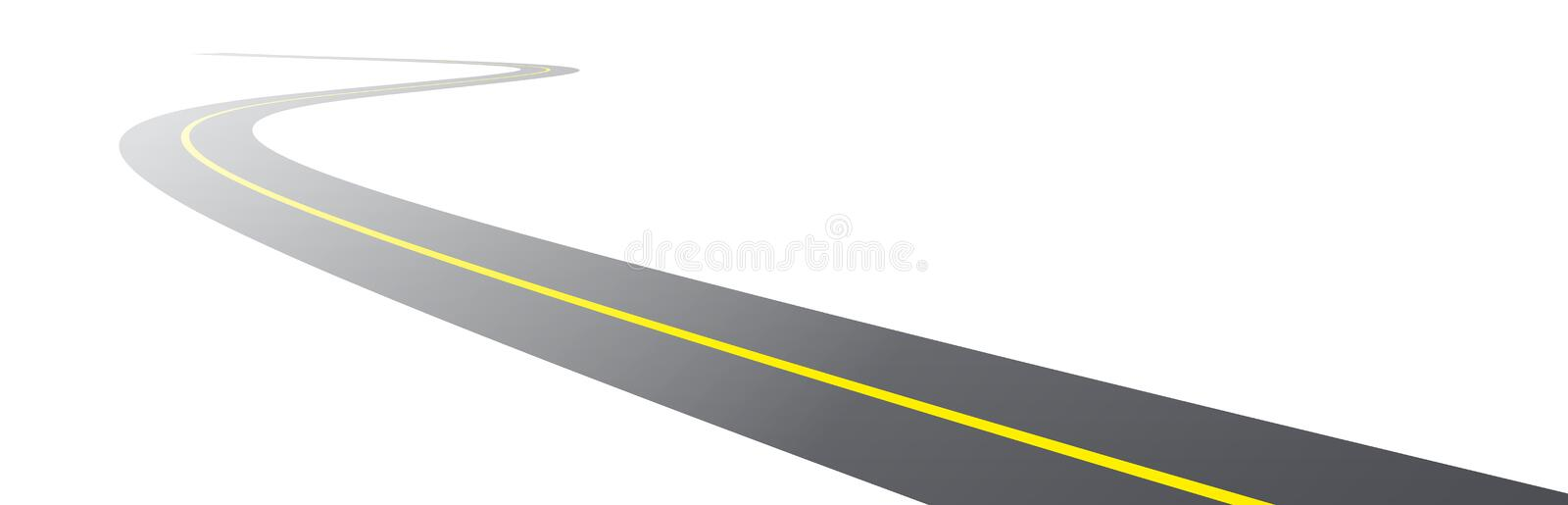 Download Vector black asphalt road stock vector. Image of isolated - 17155145
