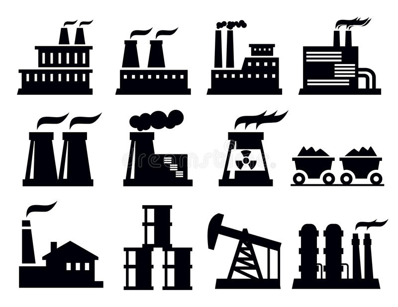 Download Building factory icon stock vector. Image of structure - 30060298