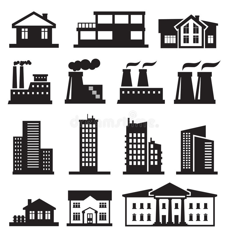 Download Buildings and factories stock vector. Illustration of architecture - 30060305
