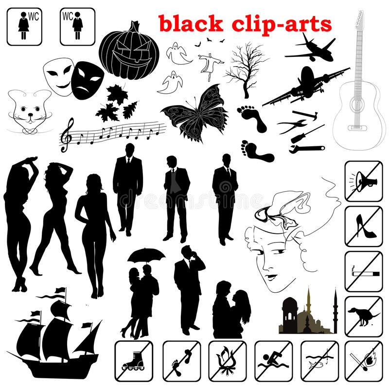 Download Vector black clip-arts stock vector. Image of megaphone - 24155431