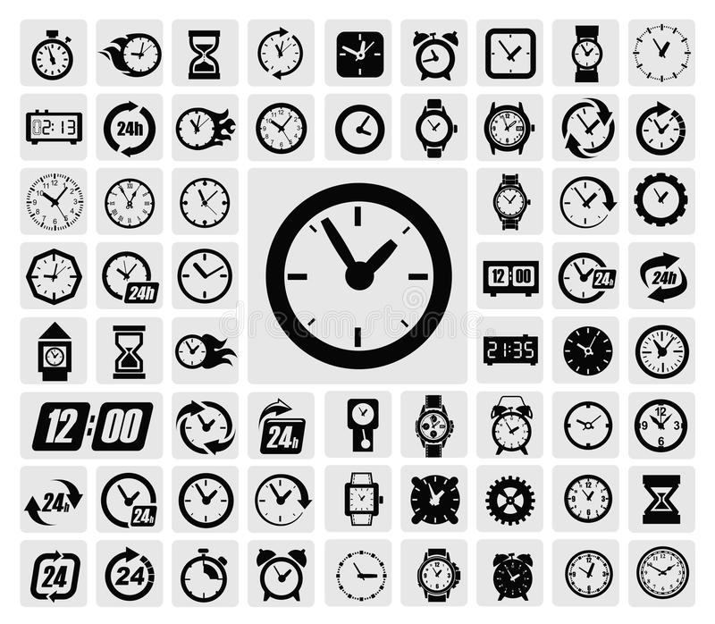 Clocks icon royalty free illustration
