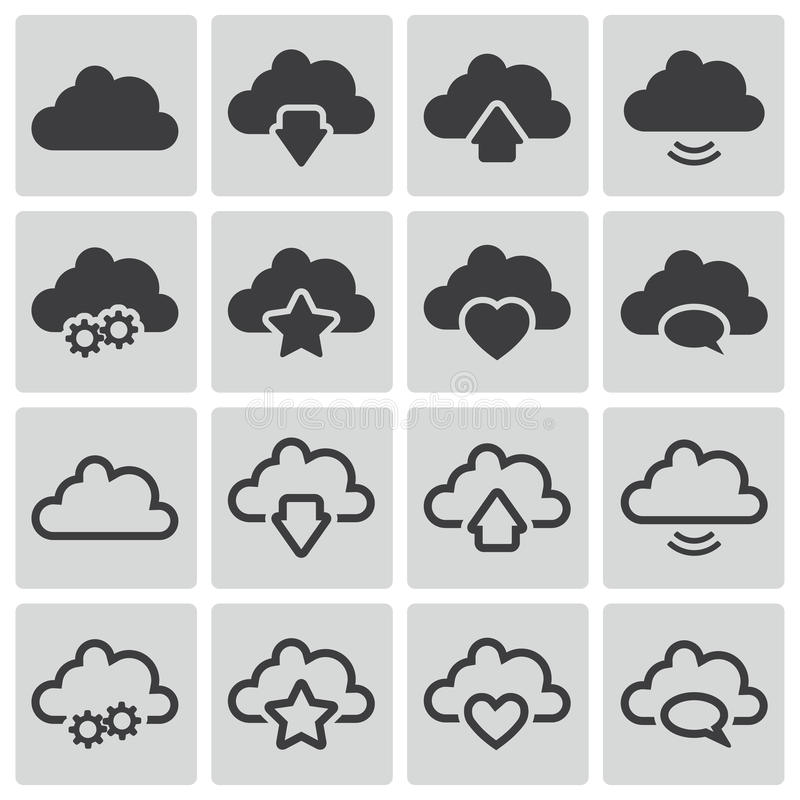 Download Vector Black  Clouds  Icons Stock Illustration - Image: 33820329