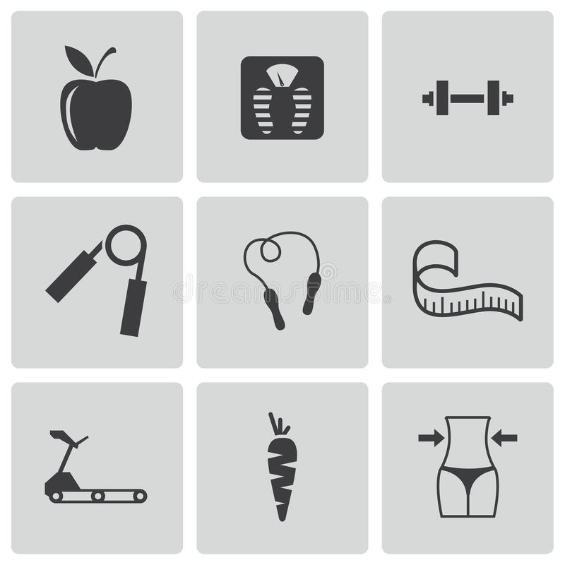 Download Vector Black Diet Icons Set Royalty Free Stock Photo - Image: 36263485