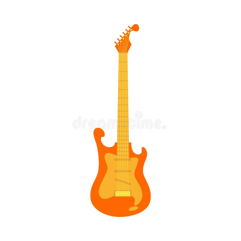 Vector black electric guitar, classic rock icon royalty free illustration