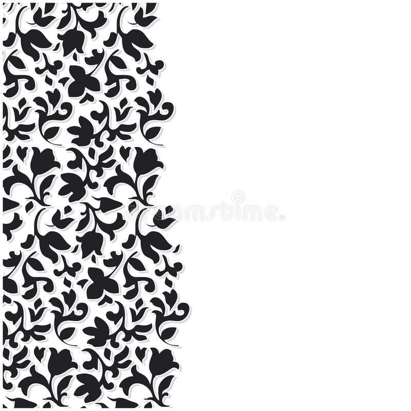 Free Vector Black Flower Background Stock Photo - 10316010