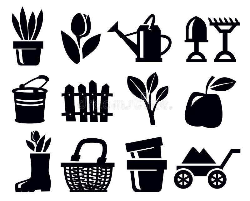 Gardening Icons Stock Photography