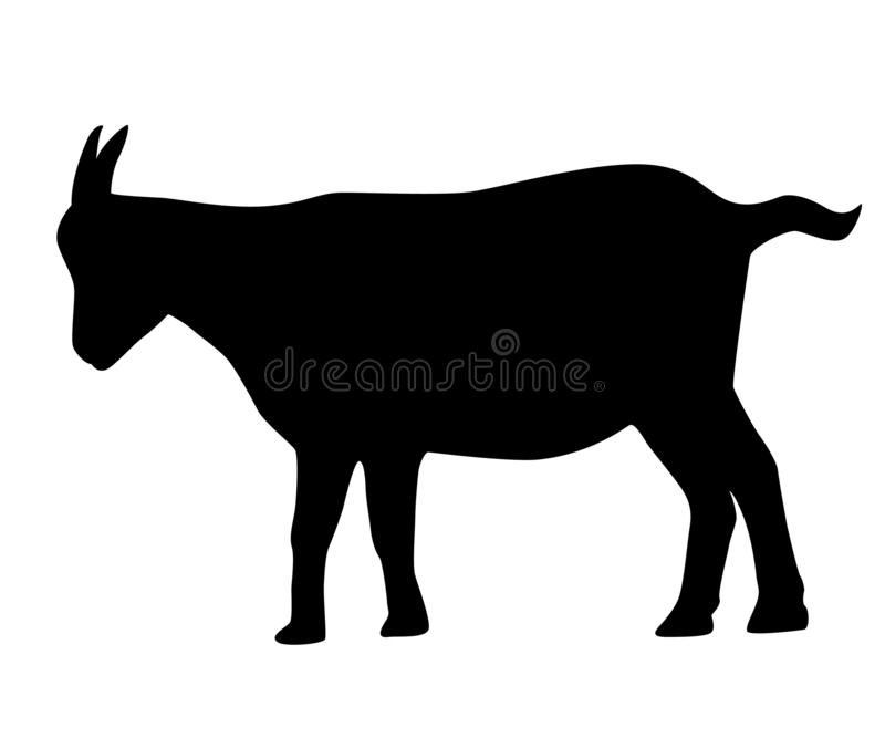 Vector of a black goat royalty free illustration