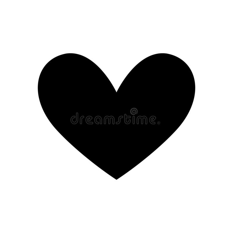 Vector black heart sign. Icon on white background. Illustration romantic symbol linked, join, love, passion and wedding. Template for t shirt, card, poster vector illustration