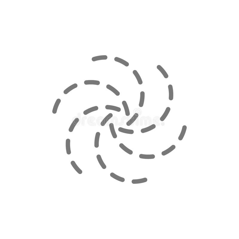Black hole line icon. royalty free illustration