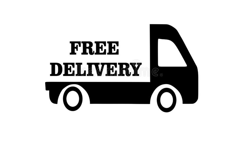 Free delivery. royalty free illustration