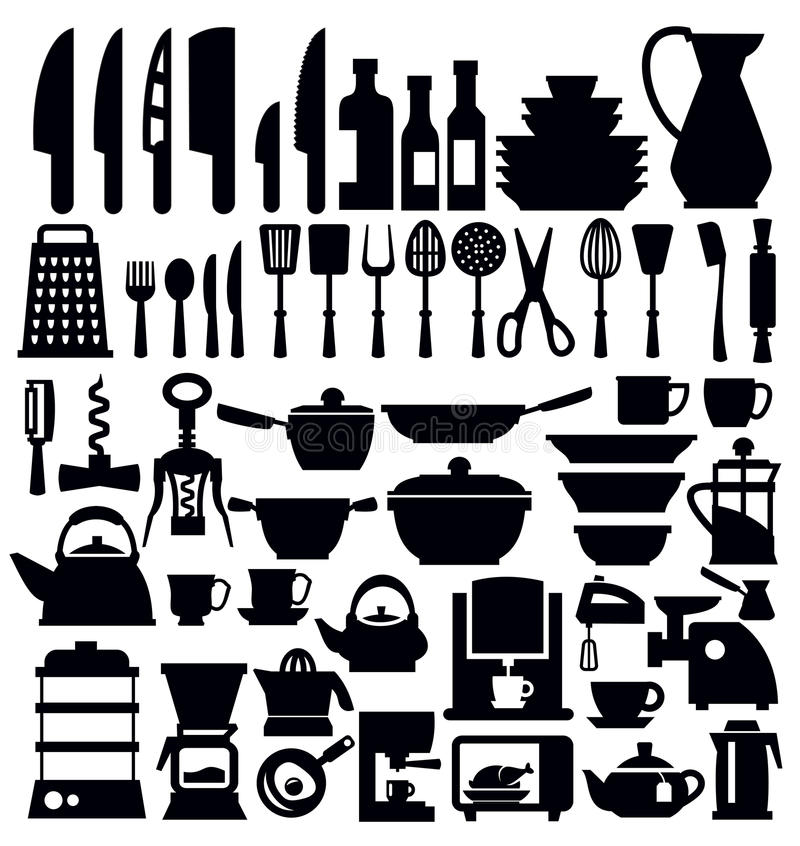 Download Kitchen tool stock vector. Image of meal, cutlery, equipment - 30198840